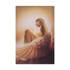 Trademark Fine Art 'Angelic' Canvas Art by Kirk Reinert, Size: 30 x 47 Artist Canvas, Canvas Art, Chica Gato Neko Anime, Angel Art, Canvas Size, Art Reproductions, Giclee Print, Wrapped Canvas, Graphic Art