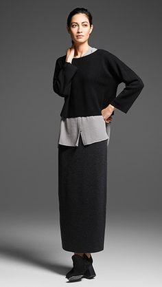 Shop women's casual clothing that effortlessly combines timeless, elegant lines with eco-friendly fabrics from EILEEN FISHER. Eileen Fischer, Quoi Porter, Casual Outfits, Fashion Outfits, Womens Fashion, Elegant Outfit, Minimalist Fashion, Ideias Fashion, Edgy Outfits