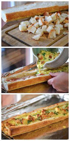 Baked Omelets in Bread Recipe