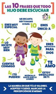 10 Frases que tu hijo debe escuchar