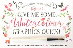 Check out 20%off • Watercolour Graphics Quick! by Nicky Laatz on Creative Market