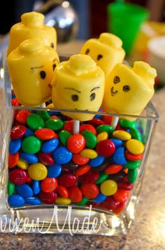 Cake Pops (or make with chocolate melts and Lego man mold)