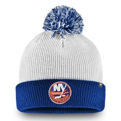 4cde2e3faf6942 Men's New York Islanders Fanatics Branded White Depth Cuffed Knit Hat with  Pom, Your Price: $24.99