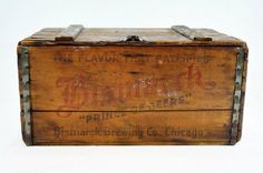 Vintage Beer Wood Crate XL / Bismarck Brewing Co by HuntandFound, $149.00