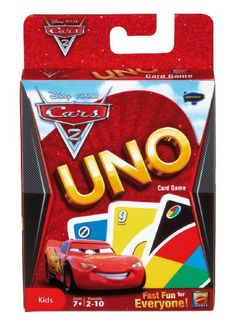 Things I like. Uno Card Game, Uno Cards, Card Games, Disney Cars Party, Disney Pixar Cars, Board Games For Kids, Games To Play, Cars 2 Movie, Mattel