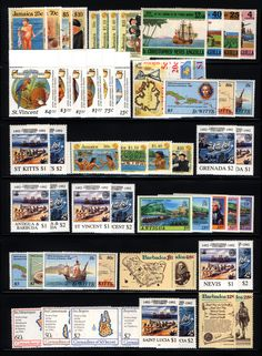 British Caribbean 1992 Mint Columbus Issues P.O. Fresh 57 items