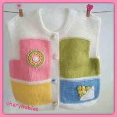 Colourful baby sweater