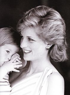 Princess Diana with baby Harry