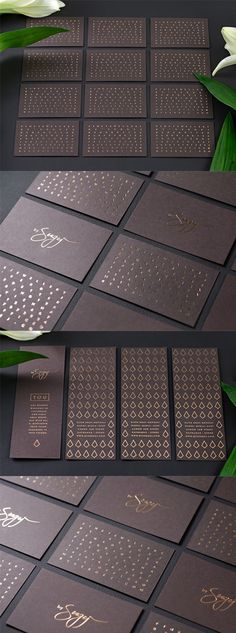 Elegant Copper Foiled Business Card Design For A Luxury Jeweller - beaded jewelry, chunky jewellery, chunky jewelry *ad Foil Business Cards, Luxury Business Cards, Business Card Design Inspiration, Business Design, Web Design, Design Ideas, Identity Design, Brochure Design, Packaging Box
