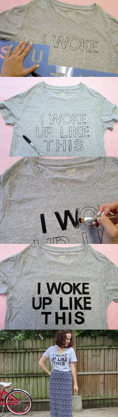 diy graphic tee step by step: and why have i not thought of this before??