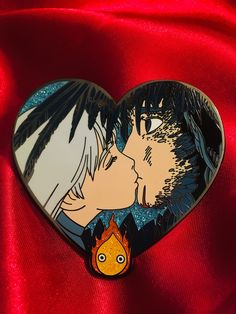 Items inspired by otaku/geek culture %%sep%% Ship worldwide ! Howl's Moving Castle Tattoo, Howls Moving Castle, Howl And Sophie, Pieces Tattoo, Studio Ghibli Art, Cool Pins, Pin And Patches, Miyazaki, Geek Culture