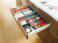 My Dream Kitchen : Hardware : Internal Drawer Organisation Kitchen Drawers, Kitchen Cabinet Design, Kitchen Storage, Kitchen Cabinets, Drawer Dividers, Functional Kitchen, Buy Kitchen, Kitchen Ideas, House Rooms