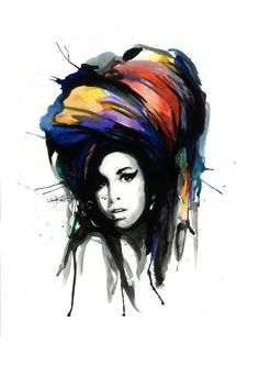 Amy Winehouse - Signed Print by Richard Berner – Berner Designs