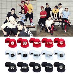 Gorras EXO ( Miembros del grupo ) / Codigo: 1018  Color :Rojo, Negro, Blanco