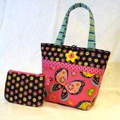Cute Little Girls Purse Butterfly Mini Tote Bag by Heart2Handbags, $27.50
