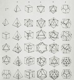 Holy Crap. These are crystal forms from Mineralogy... dodecahedrons, octohedrons, tetrahedrons... these are SO complicated!: