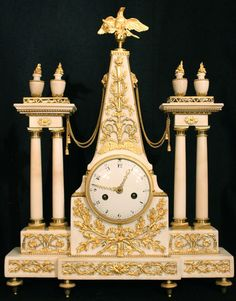 c. 1780, Carrara marble and ormolu clock signed Jean Charles Pochon, a renowned…