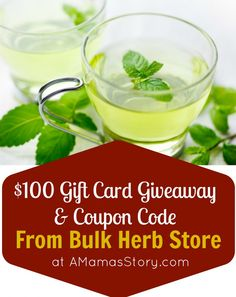 $100 Gift Card Giveaway from Bulk Herb Store {And a Discount Code}