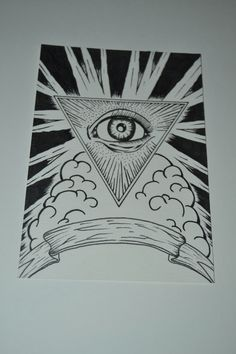 The examples of my illustration and logo illuminati as my illustration image