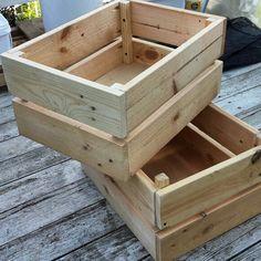 Pallet wood crates. DIY. Pocket holes .kreg jig.