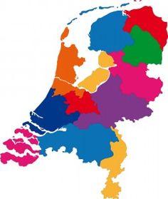 Kaart nederland met provincies