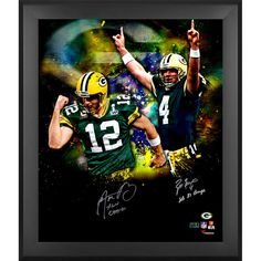 "Aaron Rodgers, Brett Favre Green Bay Packers Fanatics Authentic Framed Dual Signed 20"" x 24"" In Focus Photograph with ""SB Champs"" Inscriptions - $1199.99"