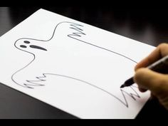 How to draw a ghost - Art For Kids Hub