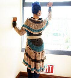 Circle jacket - crochet written English pattern