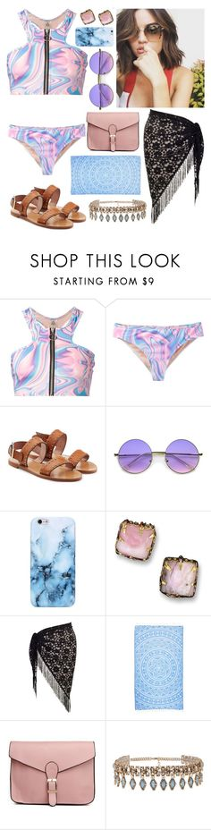 """""""Raven - Pool Day"""" by gracethewallflower01 ❤ liked on Polyvore featuring UNIF, RED Valentino, Chesca and ALDO"""