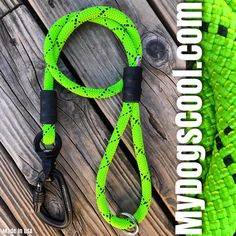 Neon Green Ultimate Dog Leash with CNC machined nano swivel and forged aluminum carabiner. Handmade in USA for the Big Dogs. . #dogleashes #dogleash #bigdogs #k9 #k9trainer #dogwalking #mydogscool #madeinusa🇺🇸 #veteranowned Rope Dog Leash, Climbing Rope, Big Dogs, Dog Walking, Neon Green, Cnc, Handmade, Rock Climbing Rope, Hand Made