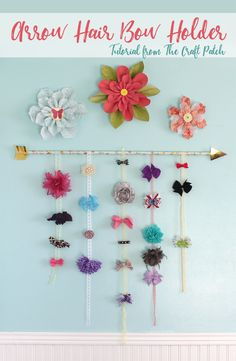 Organize those hair bows in style with this easy arrow hair bow holder.