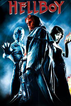 Hellboy Movie Poster - Ron Perlman, Selma Blair, Jeffrey Tambor  #Hellboy…