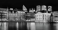 The Hague Skyline And Mauritshuis At Night Print by Barry O Carroll