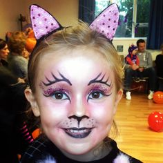Girl's cat makeup without face paint!