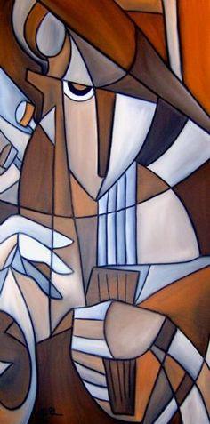 Art: Just Play Along 0 Cubist 16 by Artist Thomas C. Fedro