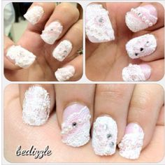 Lace nails!=i would mess up my nails before I could even finish.