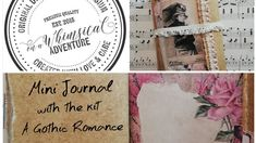 Mini journal with On A Whimsical Adventure kits