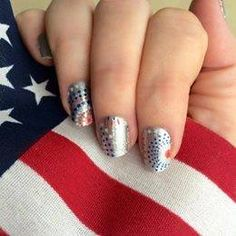 Show your love for the 4th!   Nail Art Done the Jamberry Way!  Message me with any questions you may have! Shop now at www.electranails.jamberrynails.net #4thofjuly #july4th #patriotic #patrioticnails #nailart
