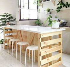 Diy pallet furniture - Awesome DIY Kitchen Pallet Ideas For a RusticStyle Kitchen Look – Diy pallet furniture Wooden Pallet Furniture, Diy Furniture Couch, Furniture Stores, Antique Furniture, Furniture Ideas, Wooden Pallets, Outdoor Furniture, Diy Kitchen Furniture, Unfinished Furniture