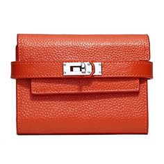 MAIFEINI New Arrival 3Folds Cow Leather Wallets Women Genuine Leather Wallets Ladies Clutch Purse Card Holder Handbag Orange -- Read more  at the image link.