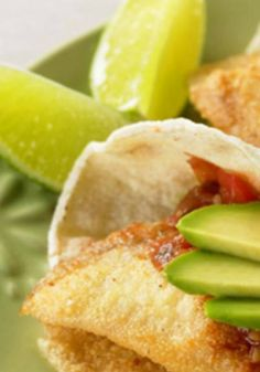 Fish Tacos with Avocado Salsa, The ultimate dish for a quick, healthy and festive dinner.