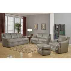 With a distinguished swagger, The Bombay™ Lucasville loveseat has the character and comfort your home's been waiting for. Their streamlined settee is wrapped in dark grey top-grain leather with a painted finish.