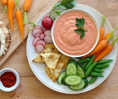 Greek yogurt is the key to this spicy, sweet dip. Roasted red peppers are blended with creamy Greek yogurt and our Greek yogurt seasoning mix. We love eating this low-fat, protein-rich dip with veggies and toasted pita slices or chips!