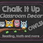 It's here at last!  This pack has everything you'd need to get your classroom up and ready to go, and look stylish at the same time with a chalkboard and OWL theme!  $ Also included is an editable file to make your own book bin labels, etc!