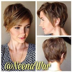 Layered Short Hairstyles with Bangs - Women Haircuts for Thick Hair