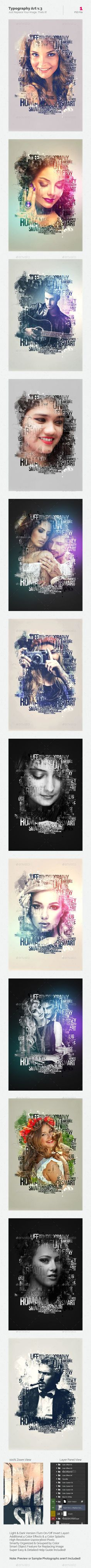 Typography Art Photo Template #photography Download: http://graphicriver.net/item/typography-art-v3/13443358?ref=ksioks
