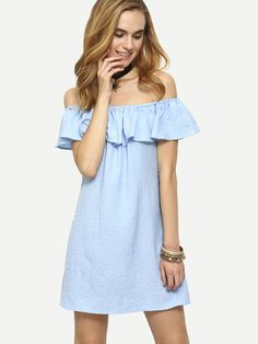 Fabric: Fabric has no stretch Season: Summer Type: Tunic Pattern Type: Plain Sleeve Length: Short Sleeve Color: Blue Dresses Length: Short Style: Beach Material: Linen Neckline: Off the Shoulder Silho
