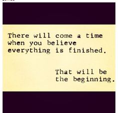 That will be the beginning.