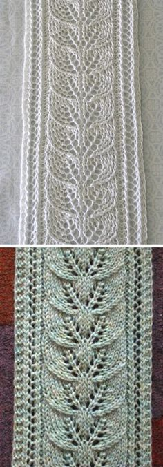 Column of Leaves Scarf - Free Pattern - Knitting stitches - Pins Crochet Patterns For Beginners, Knitting Patterns Free, Free Knitting, Free Pattern, Sewing Patterns, Shawl Patterns, Stitch Patterns, Knitting Stitches, Knitting Projects