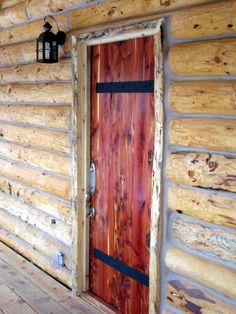 Solid Cedar Door, handmade